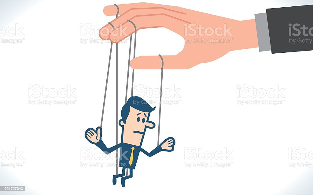 businessman marionette vector art illustration