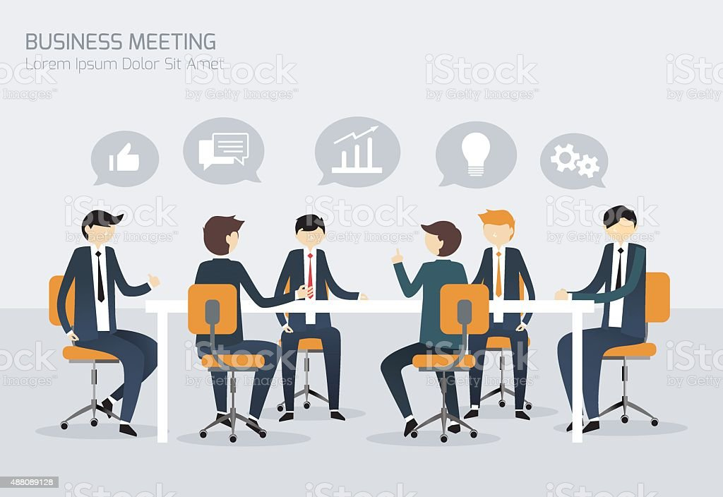 Businessman Meeting Illustration vector art illustration