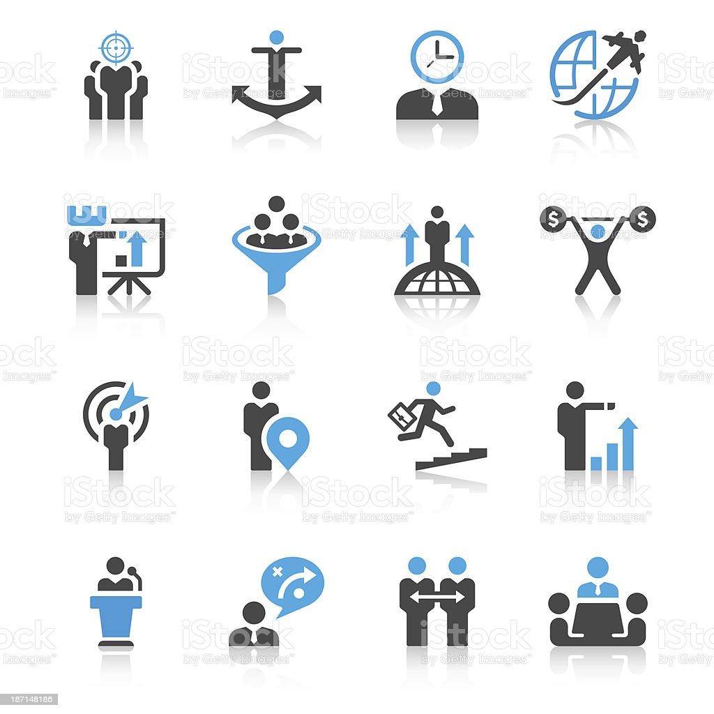Businessman & Metaphor Icon Set | Concise Series royalty-free stock vector art