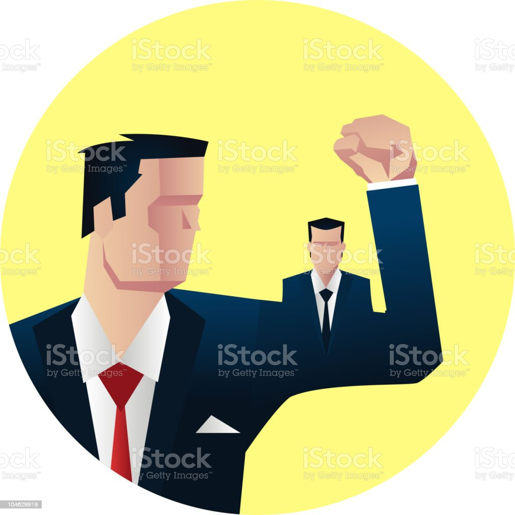 Businessman muscle royalty-free stock vector art