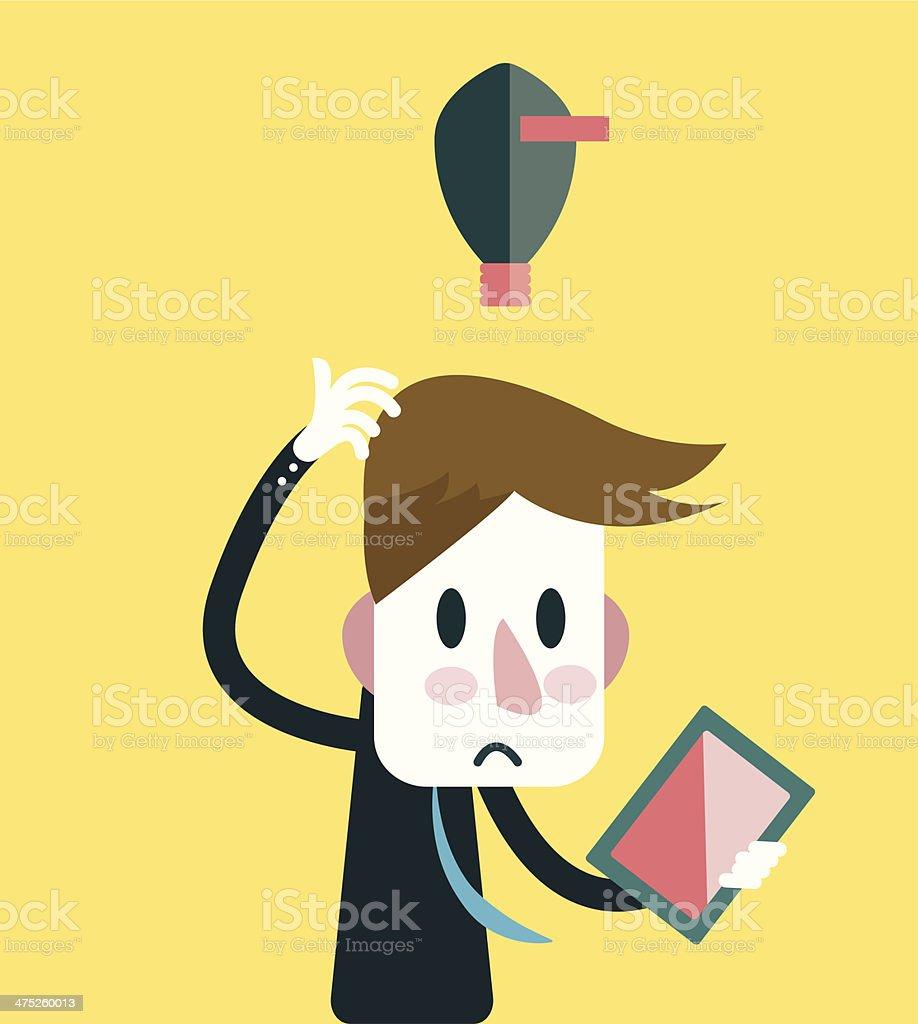 Businessman no Ideas. royalty-free stock vector art