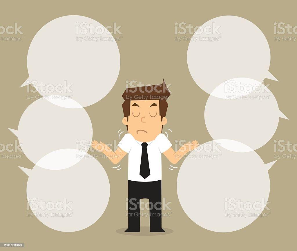 businessman not interested comment vector art illustration