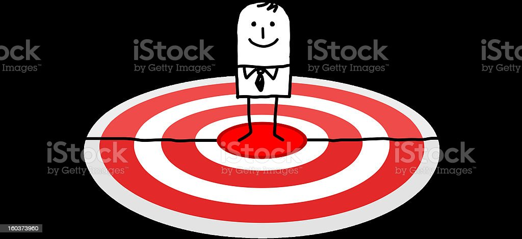 businessman on a red target royalty-free stock vector art