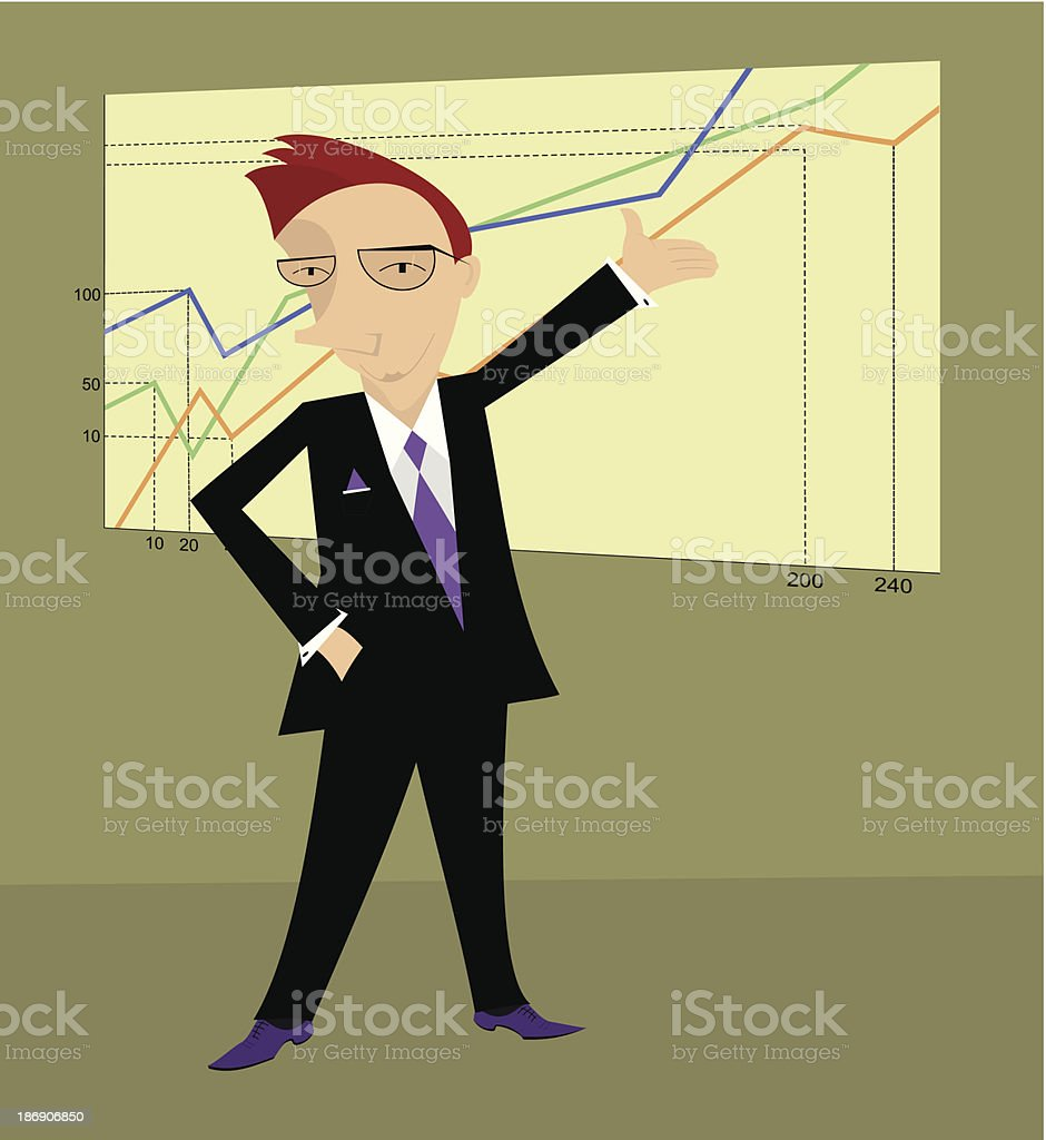 Businessman or a manager royalty-free stock vector art
