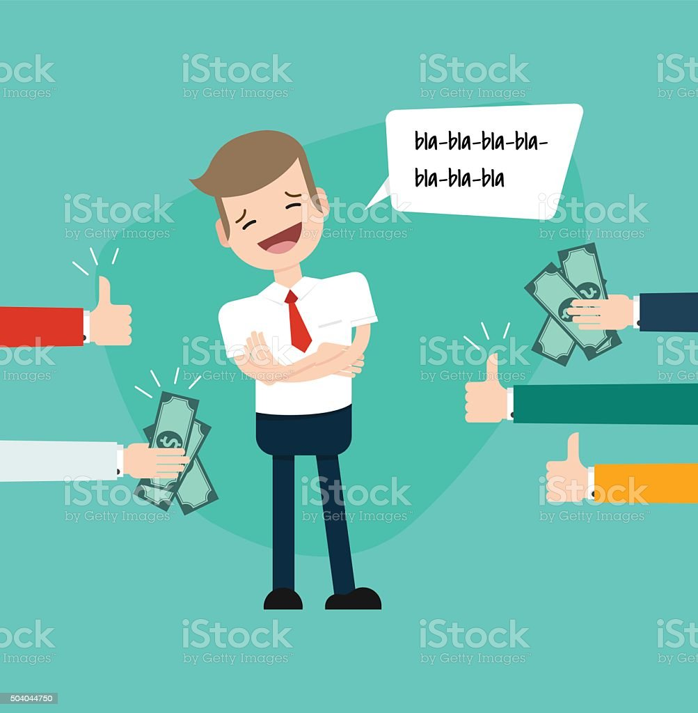 Businessman posimg vector art illustration