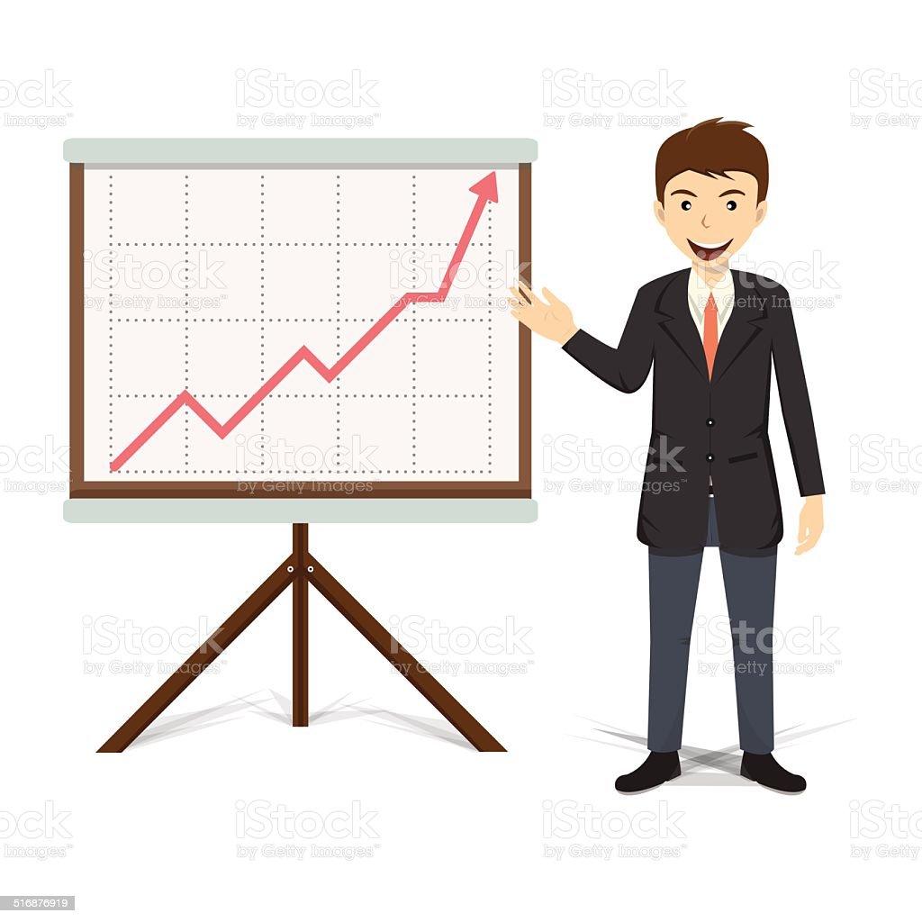 Businessman present growing business vector illustration vector art illustration