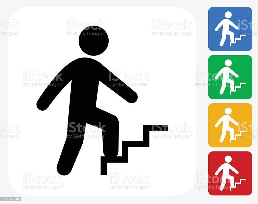 Businessman Progress Icon Flat Graphic Design vector art illustration