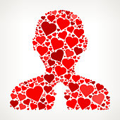 Businessman Red Hearts Love Pattern