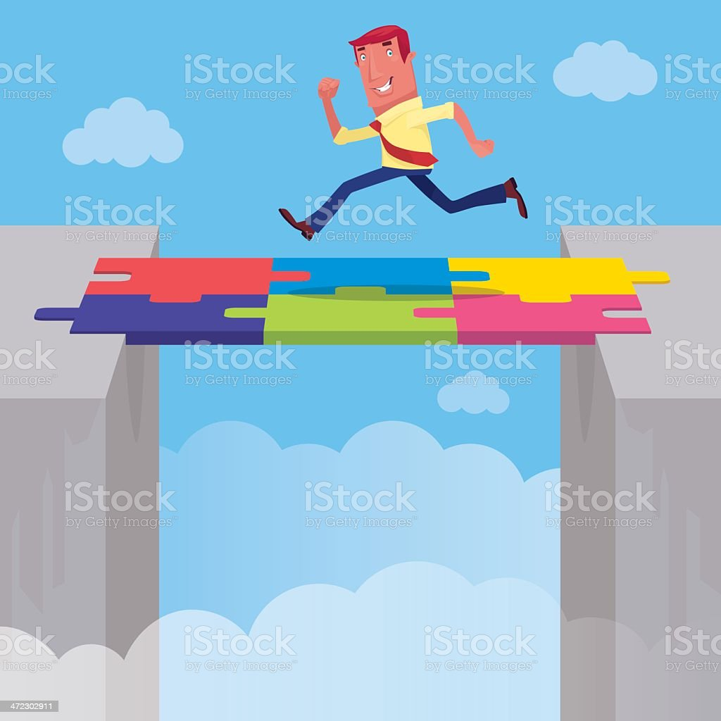 businessman running royalty-free stock vector art