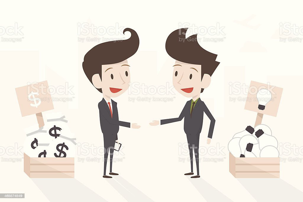 businessman sales idea, vector royalty-free stock vector art