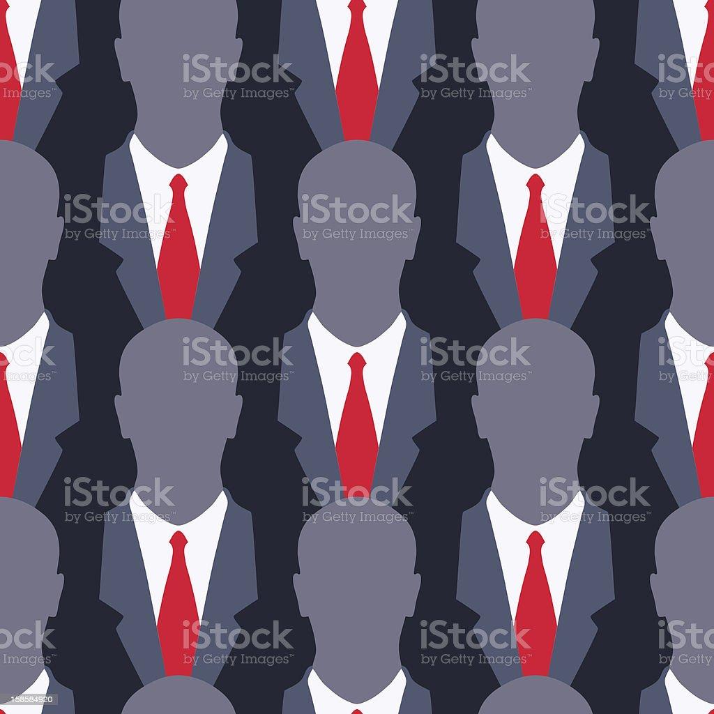 Businessman - seamless pattern vector art illustration