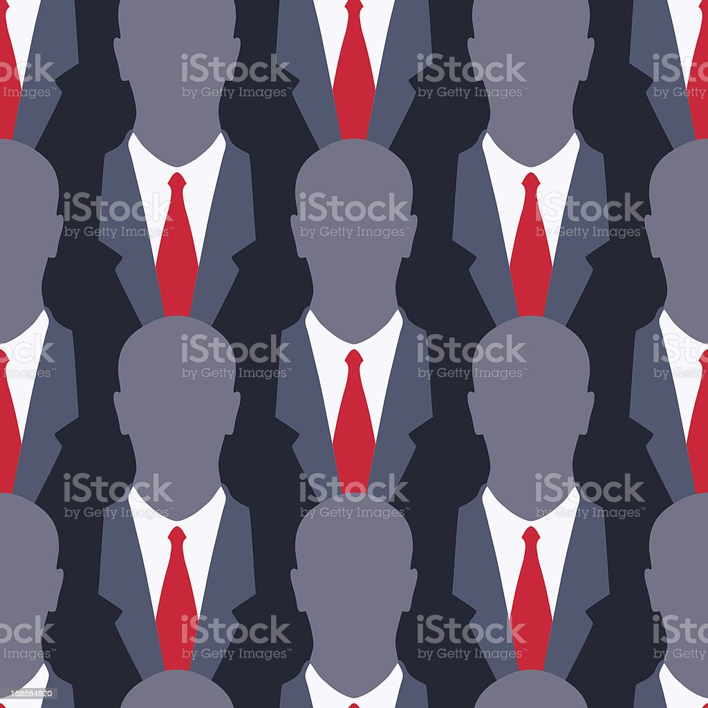 Businessman - seamless pattern vector art illustration