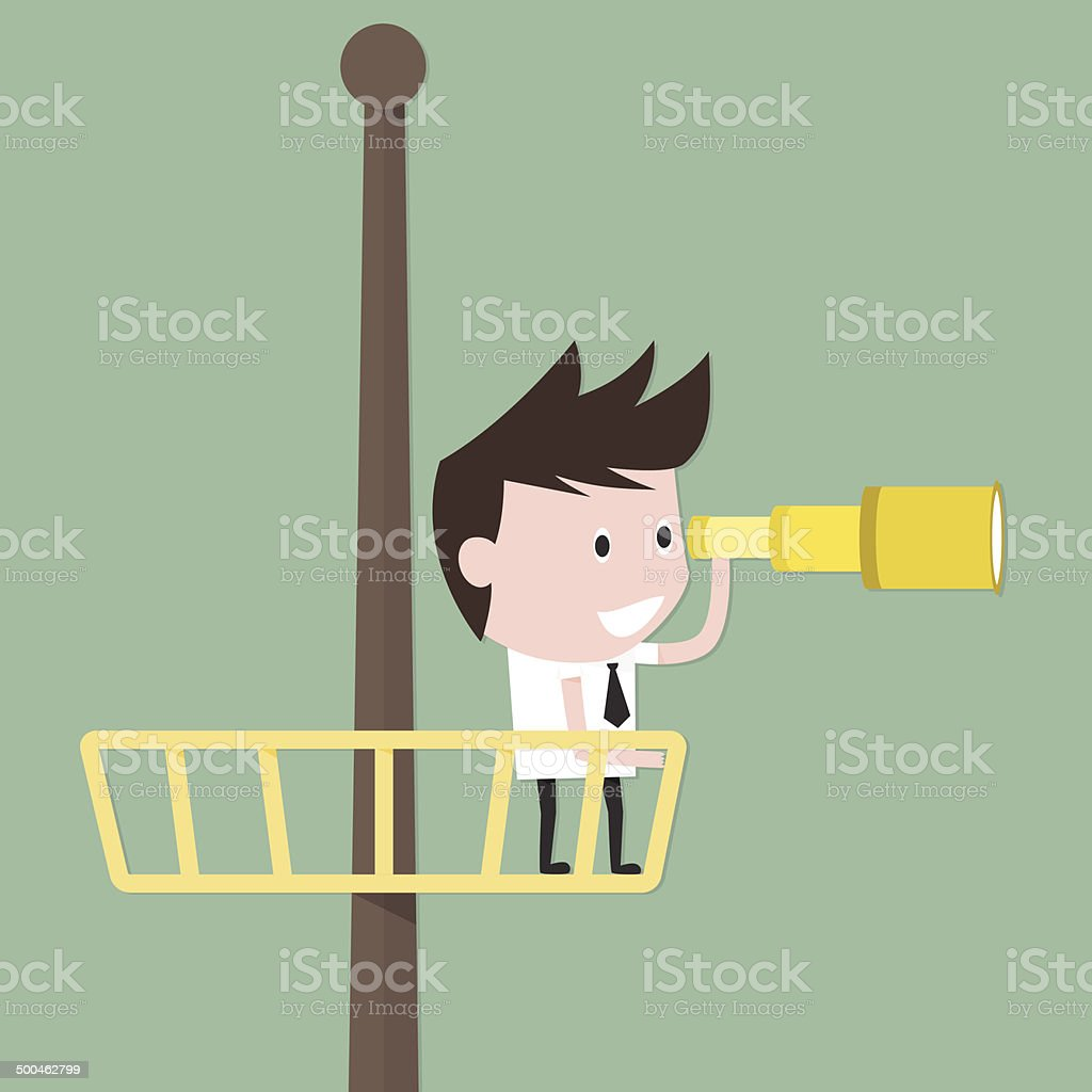 Businessman Searching for Success vector art illustration