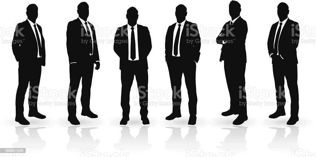 Businessman set vector art illustration