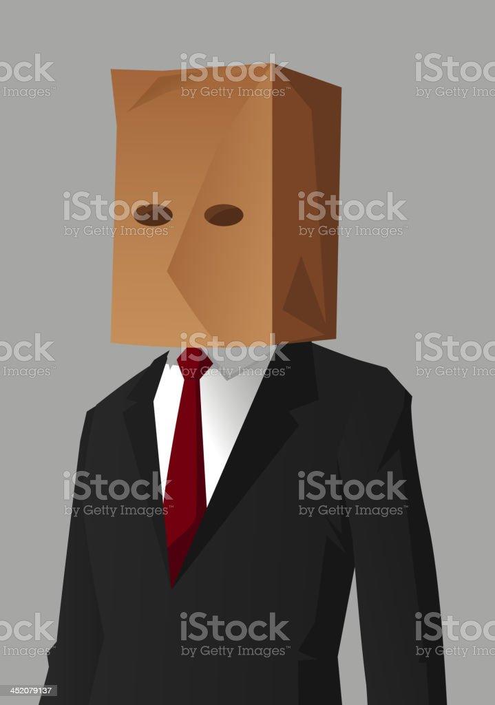 Businessman Shame Hiding Impostor royalty-free stock vector art