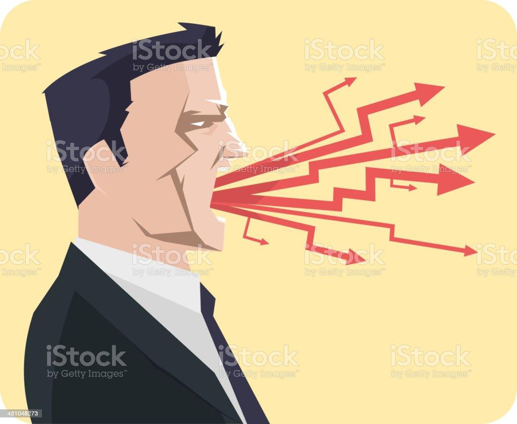 Businessman shouting royalty-free stock vector art