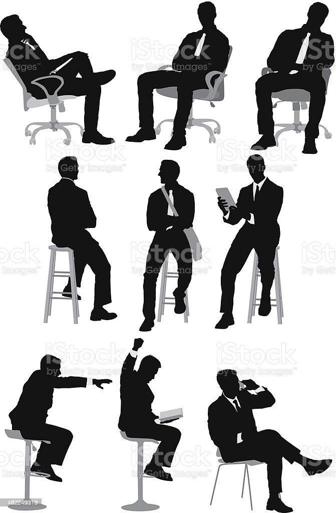Businessman sitting royalty-free stock vector art