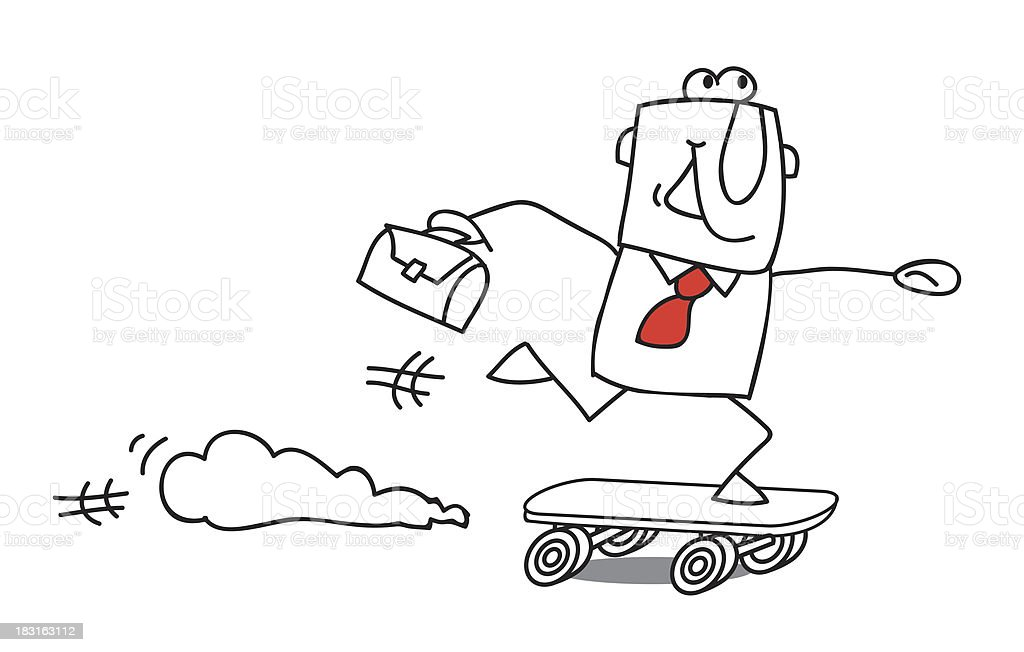 Businessman Skater royalty-free stock vector art