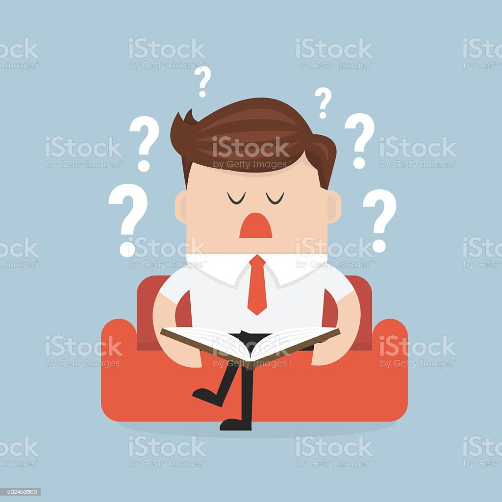 businessman solving problem. vector art illustration