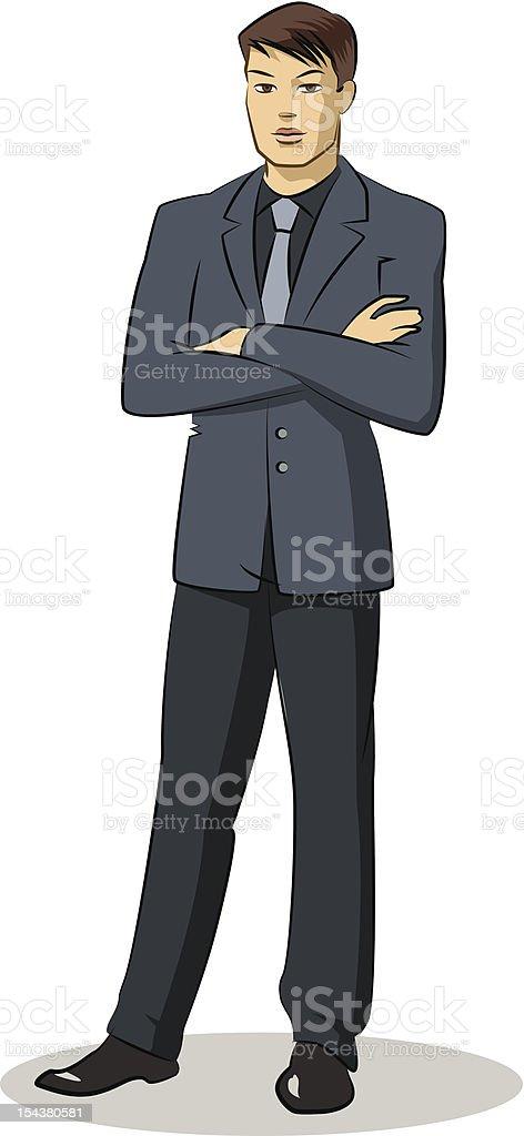 Businessman standing royalty-free stock vector art