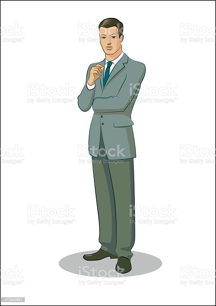 Businessman standing royalty-free stock vector art