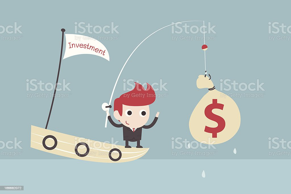 businessman success in fishing royalty-free stock vector art