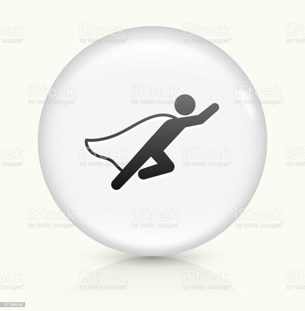 Businessman Superhero icon on white round vector button vector art illustration