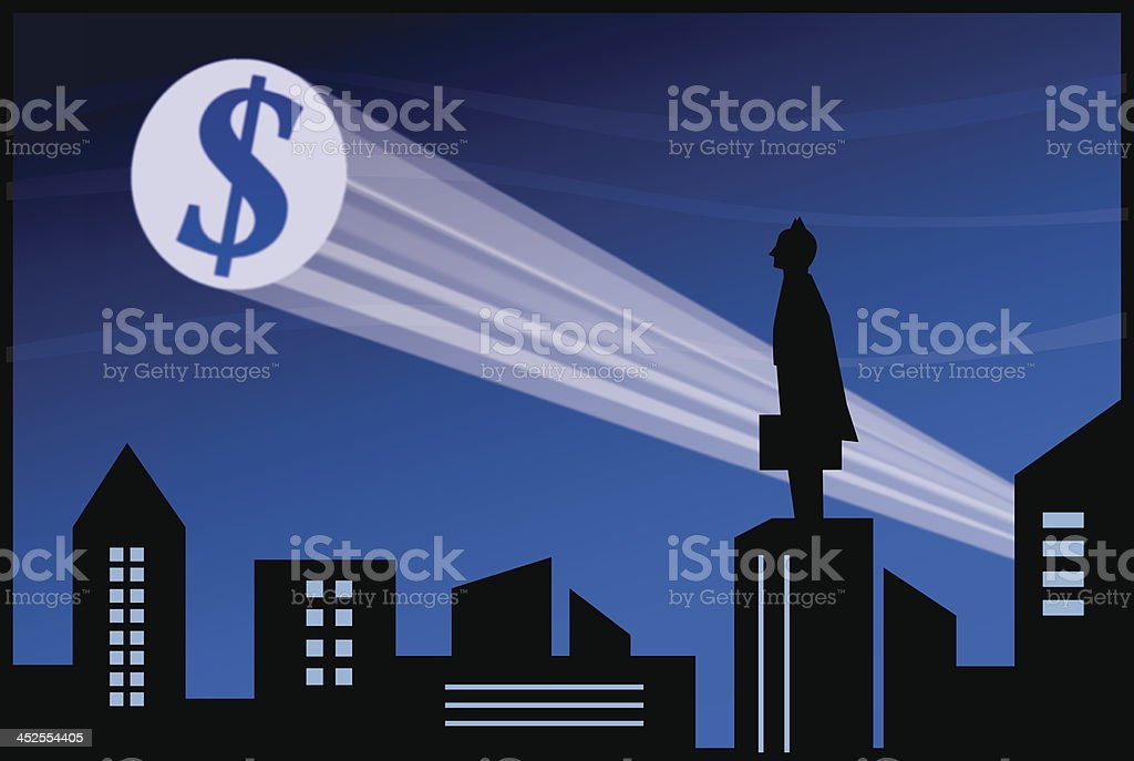Businessman Superhero vector art illustration