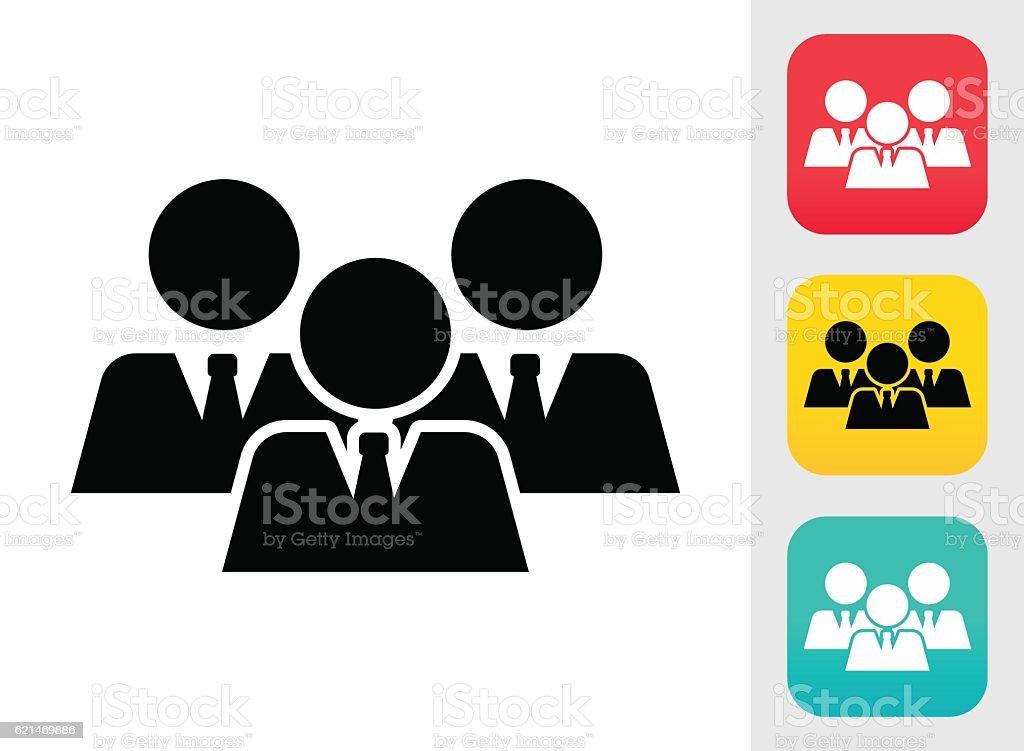 Businessman Team vector art illustration
