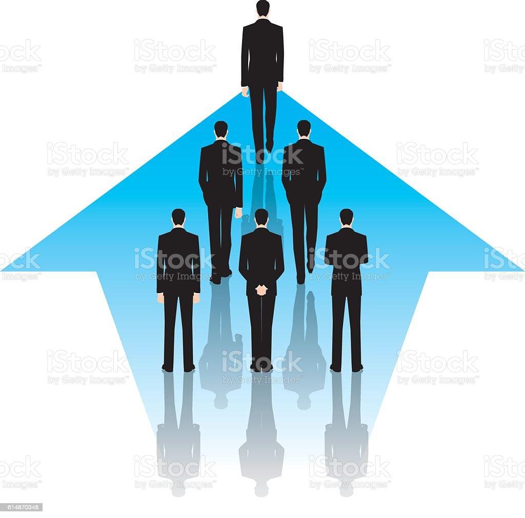 Businessman to move forward. Business image. vector art illustration