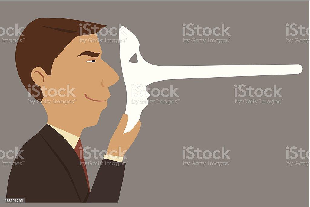 Businessman unreliable. vector art illustration