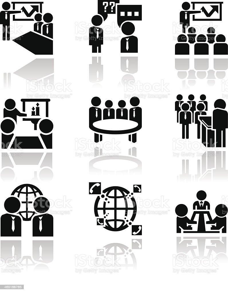 Businessman vector icons set. EPS 10 vector art illustration