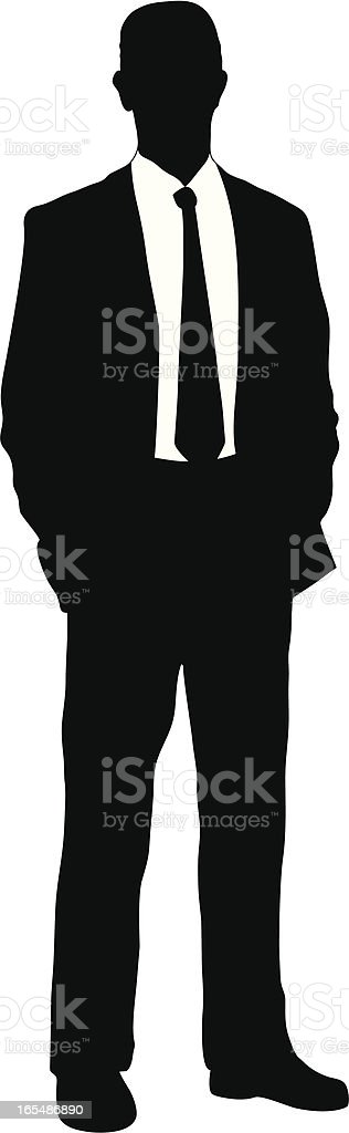 Businessman vector art illustration