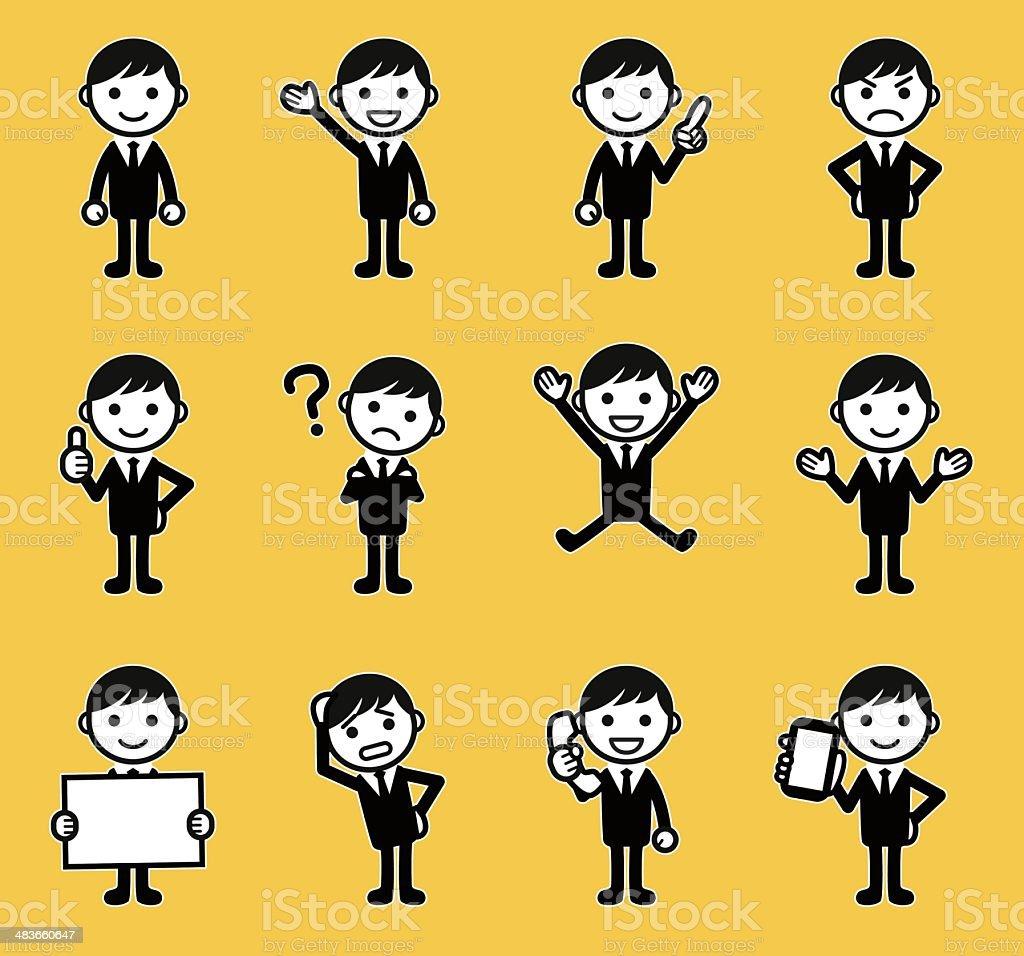 Businessman vector art illustration