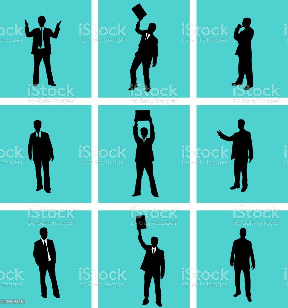 Businessman, vectors work vector art illustration