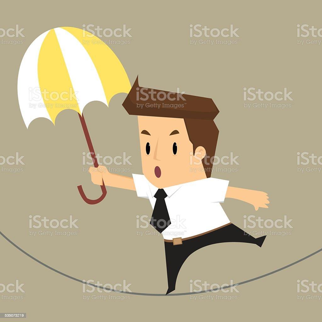 businessman walking risk vector art illustration