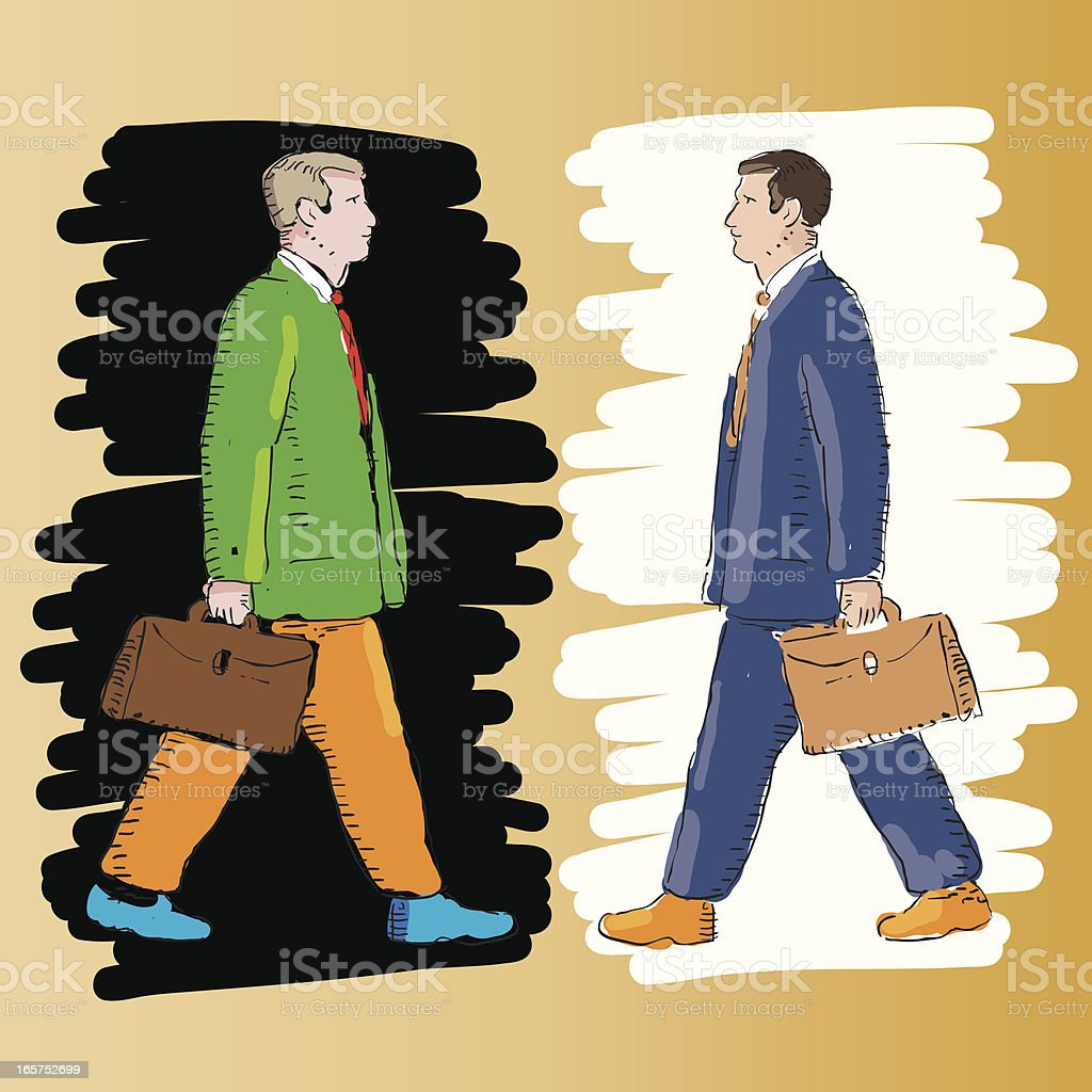 Businessman walking royalty-free stock vector art