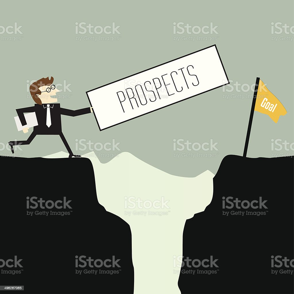 Businessman want prospects vector art illustration