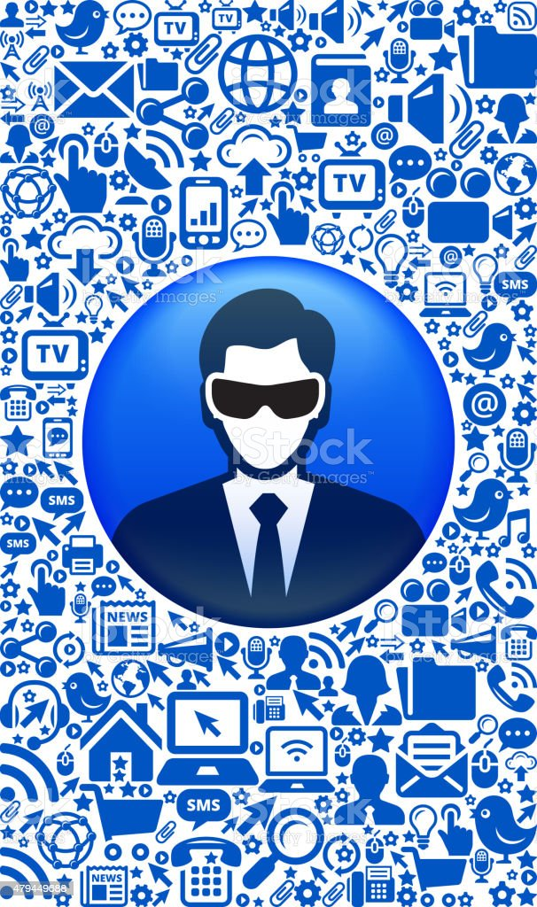 Businessman Wearing 3D Glasses and Virtual Reality Experience Icon Set vector art illustration