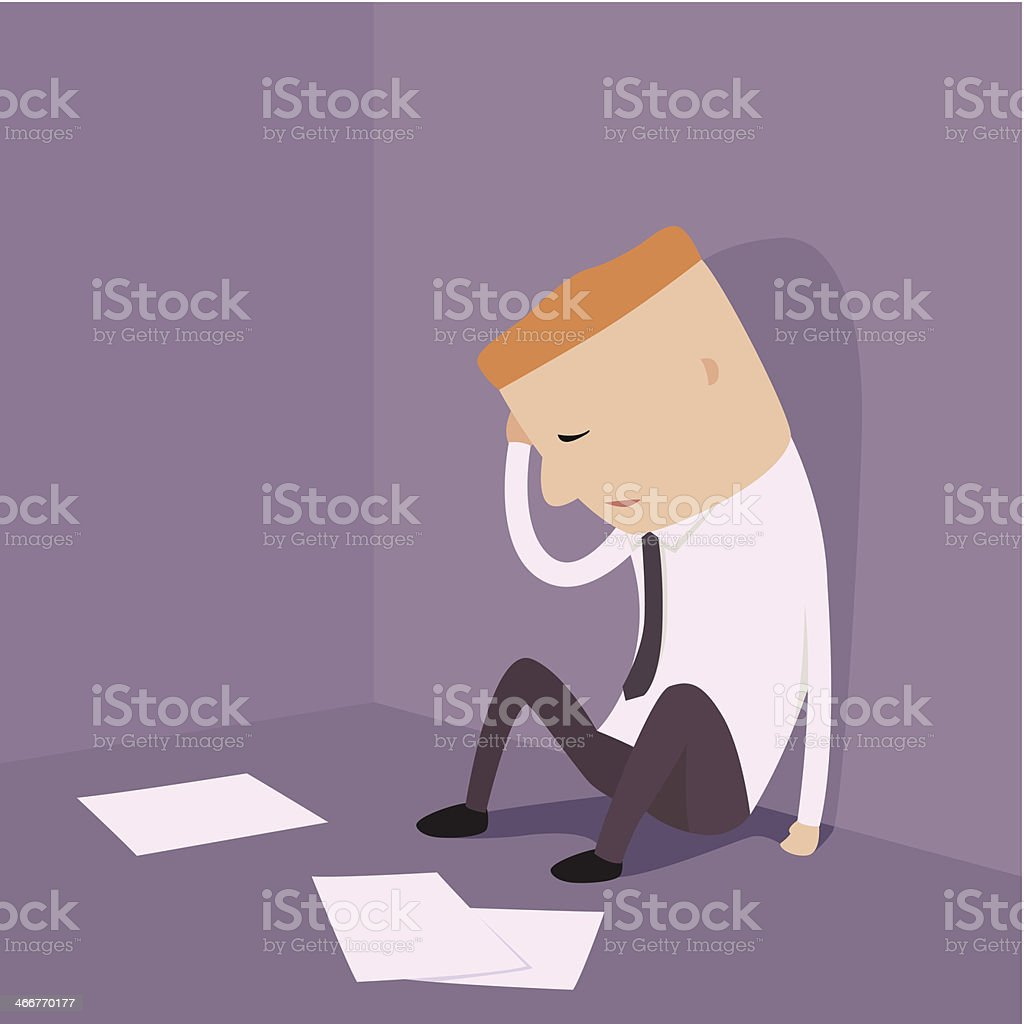 Businessman who bankruptcy. vector art illustration