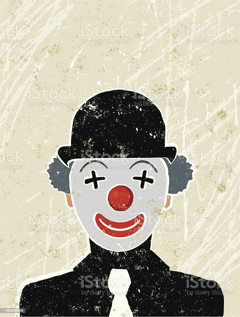 Businessman with a Clown face vector art illustration