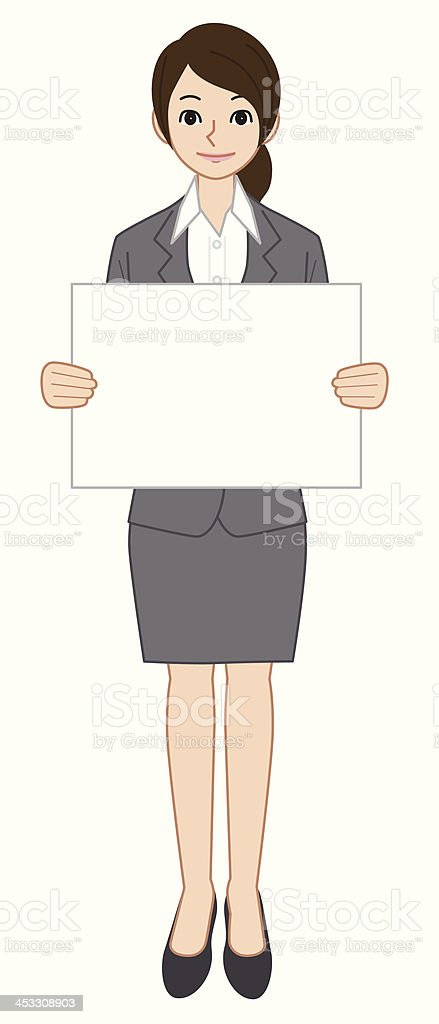 Businessman with a paper board vector art illustration