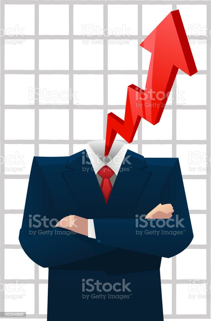 Businessman with arrow head royalty-free stock vector art