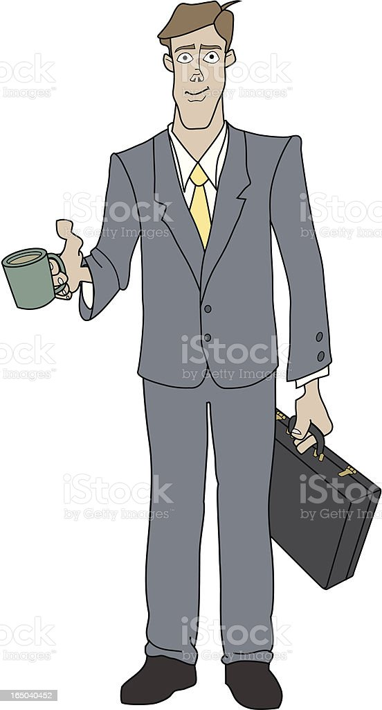 Businessman with Coffee vector art illustration