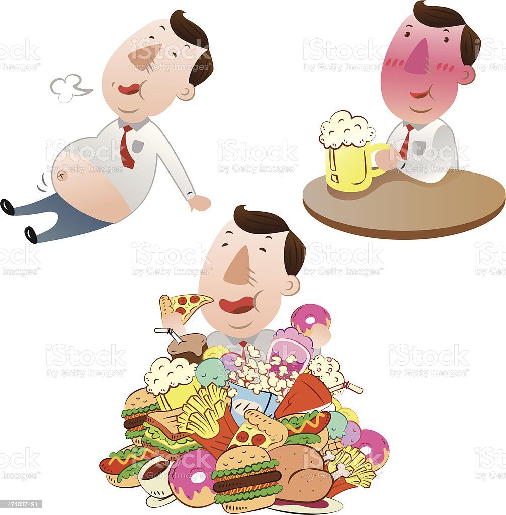 businessman with food royalty-free stock vector art
