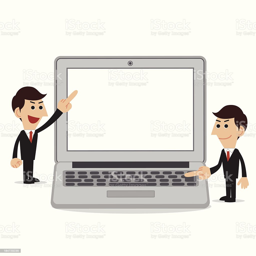 Businessman with Laptop royalty-free stock vector art
