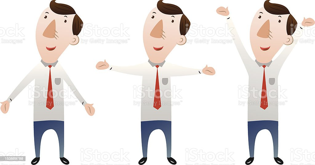 businessman with open arms royalty-free stock vector art