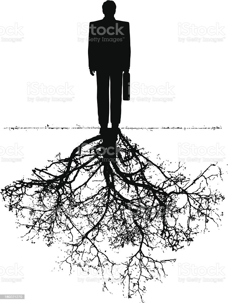 businessman with roots royalty-free stock vector art