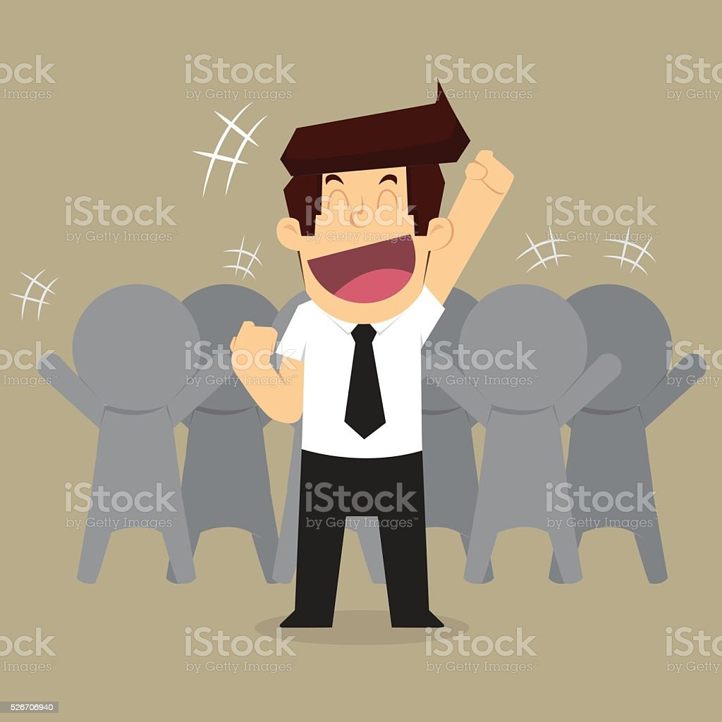 businessman working as a team's success vector art illustration