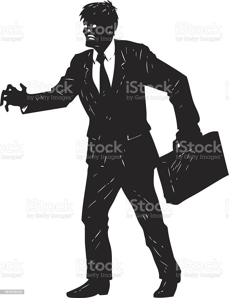businessman zombie vector art illustration